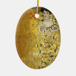 Gustav Klimt- Portrait of Adele Bloch-Bauer I Ceramic Ornament