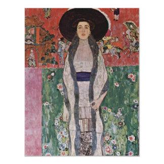 Gustav Klimt Portrait of Adele Bloch-Bauer II 4.25x5.5 Paper Invitation Card