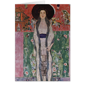 Gustav Klimt Portrait of Adele Bloch-Bauer II Card
