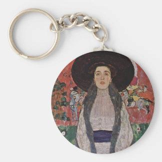 Gustav Klimt Portrait of Adele Bloch-Bauer II Keychain