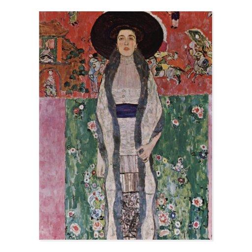 Gustav Klimt Portrait of Adele Bloch-Bauer II Postcard ... Klimt Adele Bloch Bauer Ii