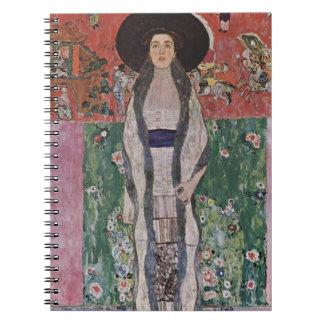 Gustav Klimt Portrait of Adele Bloch-Bauer II Spiral Notebook