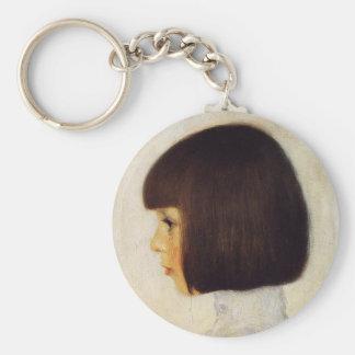 Gustav Klimt Portrait of Helene Klimt Key Chain