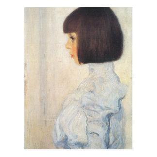 Gustav Klimt Portrait of Helene Klimt Postcard