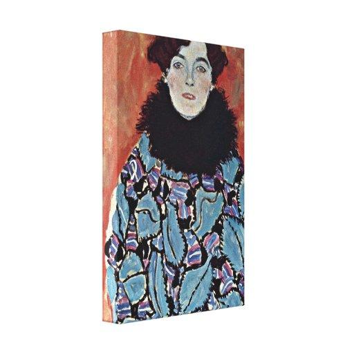 Gustav Klimt - Portrait of Johanna Staude Stretched Canvas Prints