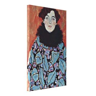 Gustav Klimt - Portrait of Johanna Staude Canvas Print