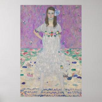 Gustav Klimt - Portrait of Mäda Primavesi Print