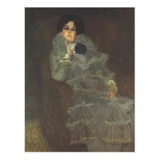 Gustav Klimt- Portrait of Marie Henneberg Postcard