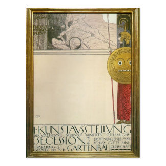 Gustav Klimt: Poster for the First Art Exhibition Postcard