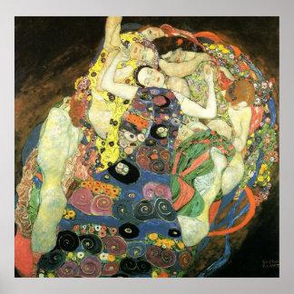 Gustav Klimt Poster ~ The Maiden