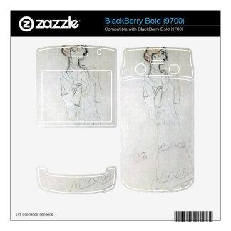 Gustav Klimt - Profile standing female figure with Skin For BlackBerry