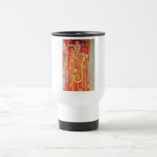 Gustav Klimt Red Woman Gold Snake Painting 15 Oz Stainless Steel Travel Mug