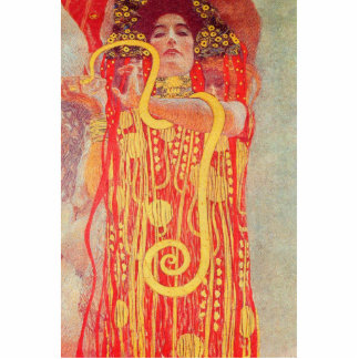 Gustav Klimt Red Woman Gold Snake Painting Cut Outs