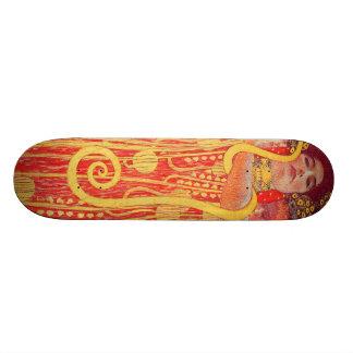 Gustav Klimt Red Woman Gold Snake Painting Skateboard Deck