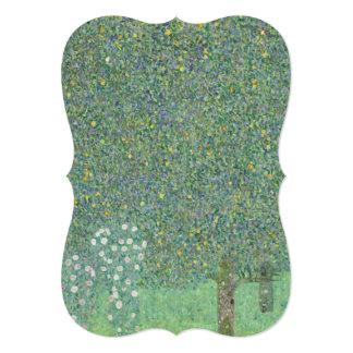 Gustav Klimt - Rosebushes under the Trees 5x7 Paper Invitation Card