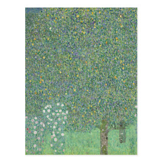 Gustav Klimt - Rosebushes under the Trees Artwork Postcard