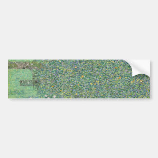 Gustav Klimt - Rosebushes under the Trees Bumper Sticker