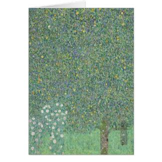 Gustav Klimt - Rosebushes under the Trees Greeting Cards
