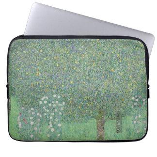 Gustav Klimt - Rosebushes under the Trees Laptop Sleeve