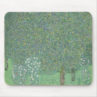 Gustav Klimt - Rosebushes under the Trees Mouse Pad