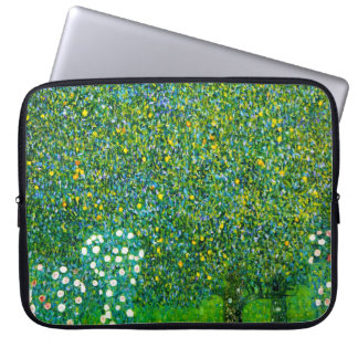 Gustav Klimt Roses Under The Pear Tree Computer Sleeve