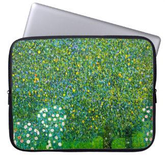 Gustav Klimt Roses Under The Pear Tree Computer Sleeve