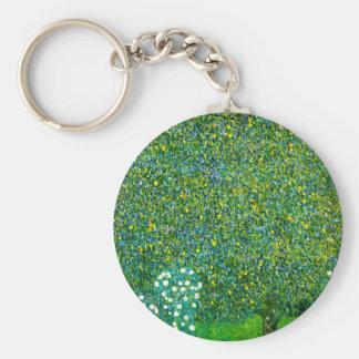 Gustav Klimt Roses Under The Pear Tree Key Chain
