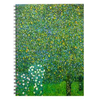 Gustav Klimt Roses Under The Pear Tree Notebook