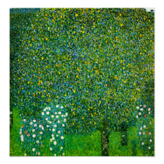 Gustav Klimt Roses Under The Pear Tree Poster
