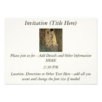 Gustav Klimt s The Kiss circa 1908 Custom Invites