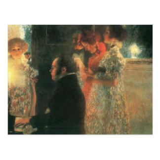 Gustav Klimt- Schubert at the Piano II Postcard