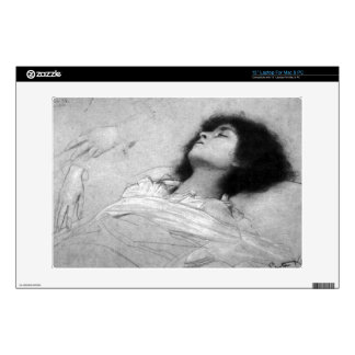 "Gustav Klimt - Study sheet with the upper body of Decal For 13"" Laptop"