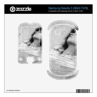 Gustav Klimt - Study sheet with the upper body of Samsung Gravity 3 Decals