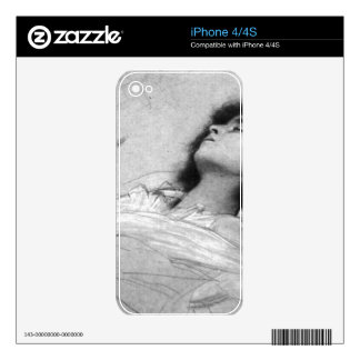 Gustav Klimt - Study sheet with the upper body of Decals For iPhone 4S