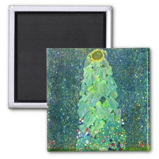 Gustav Klimt: Sunflower 2 Inch Square Magnet