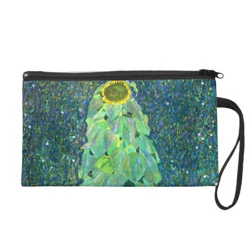 Gustav Klimt: Sunflower Wristlet Clutches