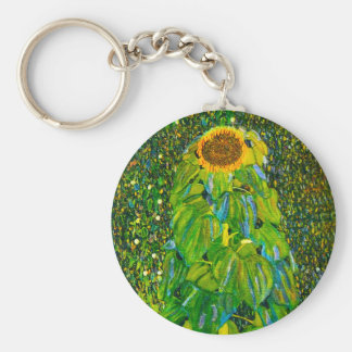Gustav Klimt Sunflower Key Chain