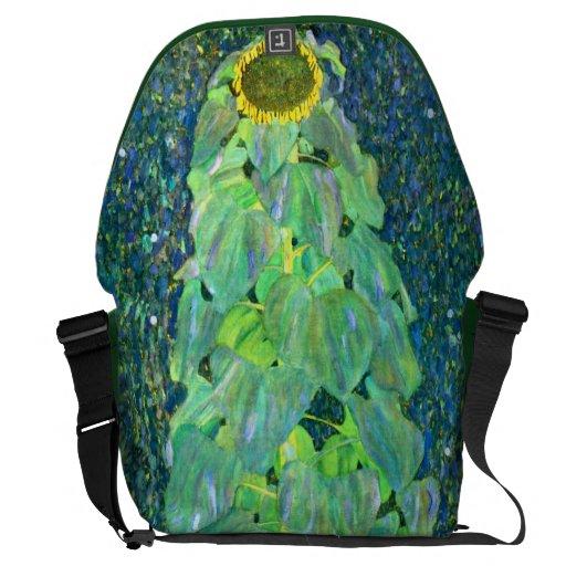 Gustav Klimt: Sunflower Messenger Bags