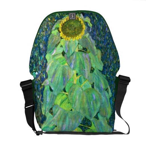 Gustav Klimt: Sunflower Courier Bags