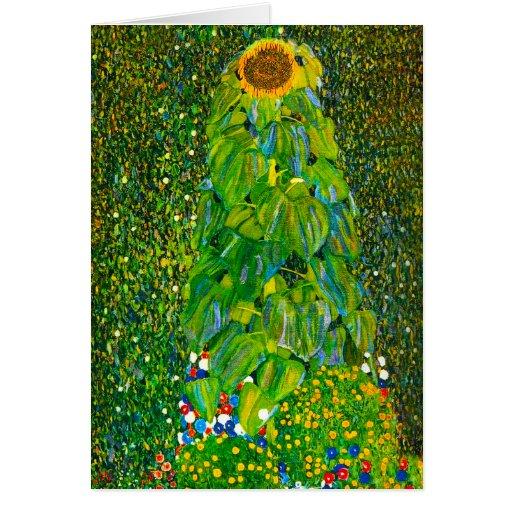 Gustav Klimt Sunflower Note Card