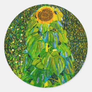 Gustav Klimt Sunflower Stickers