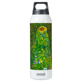Gustav Klimt Sunflower Thermos Water Bottle