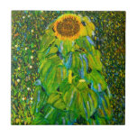 """Gustav Klimt Sunflower Tile<br><div class=""""desc"""">Gustav Klimt The Sunflower tile. Oil painting on canvas from 1907. Austrian artist Gustav Klimt is most recognized for the portrait work he completed during his golden period, however he also painted some beautiful garden and landscape paintings. Sunflower is arguably his most famous flower painting. A large sunflower bends towards...</div>"""
