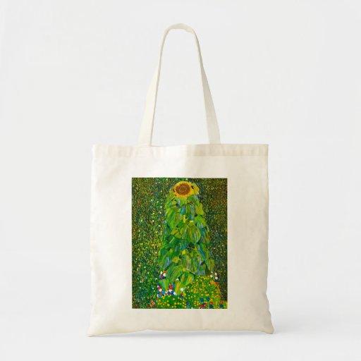Gustav Klimt Sunflower Tote Bag