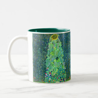 Gustav Klimt: Sunflower Two-Tone Coffee Mug