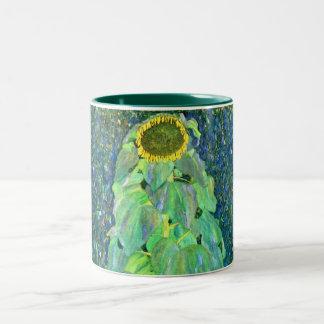 Gustav Klimt: Sunflower Two-Tone Coffee Mug