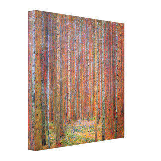 Gustav Klimt - Tannenwald I Canvas Print