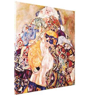 Gustav Klimt - The Baby Cradle - Newborn Canvas Print