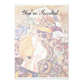 Gustav Klimt - The Baby Cradle - Newborn Card