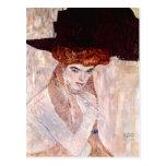 Gustav Klimt ~ The Black Hat 1910 Post Cards